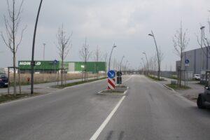 Zufahrt zum GVZ Region Augsburg