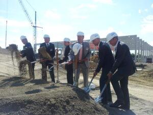 Spatenstich zum Neubau des Logistikparks in Markgröningen